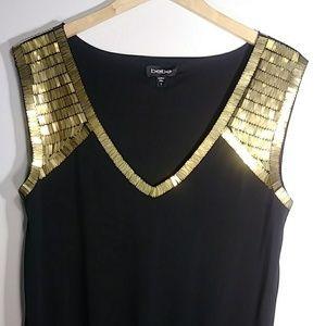 Like New: bebe|  Black & Gold Mini Dress